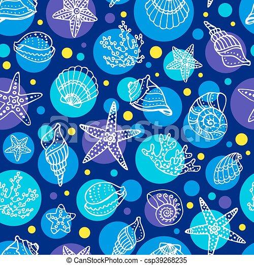 Sea seamless pattern - csp39268235