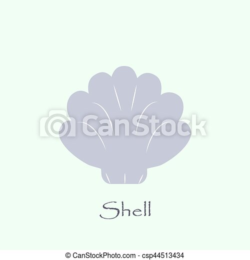 sea shell vector logo template shell icon on turquoise background