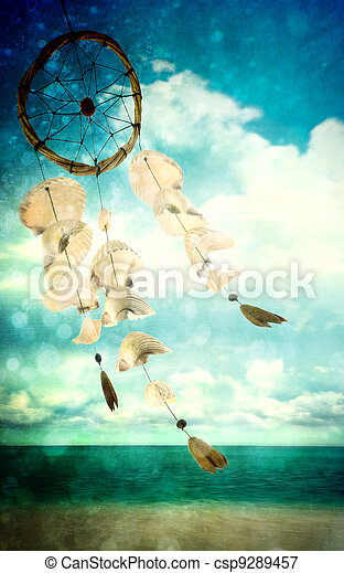 Sea shells blowing in the wind - csp9289457