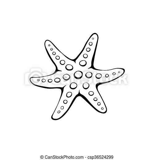 Black Starfish Vector