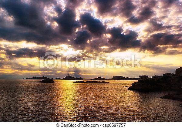 Sea Sunset - csp6597757