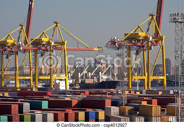 Sea trading port - csp4012927