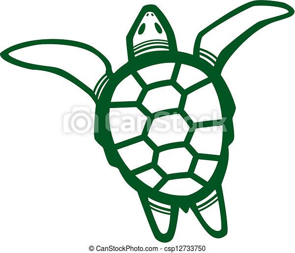 vector illustration of a sea turtle clipart vector search rh canstockphoto com sea turtle vector image sea turtle vector free