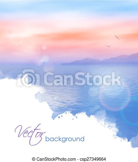 Sea Vector Background  - csp27349664