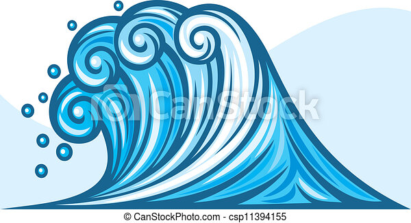 sea wave ocean wave clipart vector search illustration drawings rh canstockphoto com ocean wave clipart free Waves Flowing Left