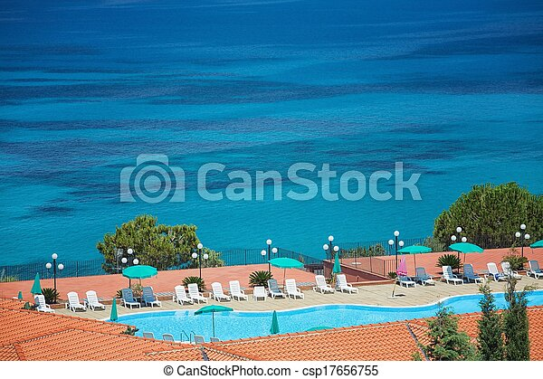 Sea with swimming pool - csp17656755