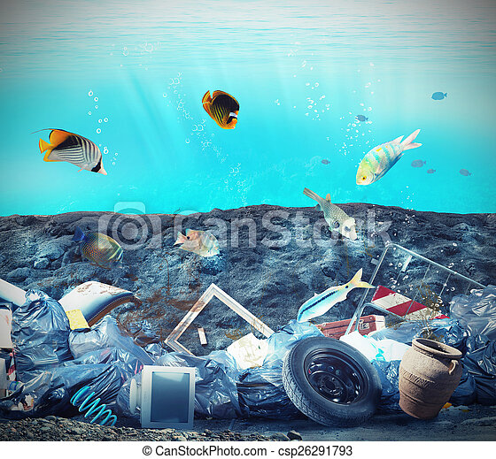 Seabed pollution - csp26291793