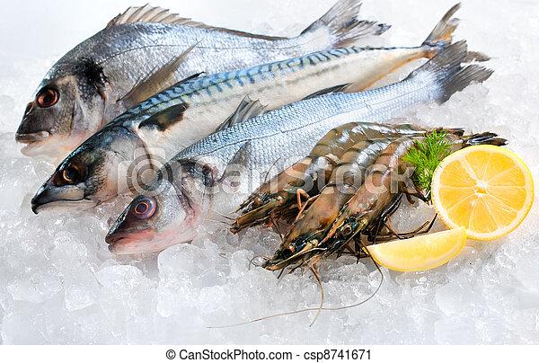 Seafood on ice - csp8741671