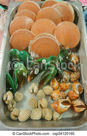 seafood on the market - csp34120165