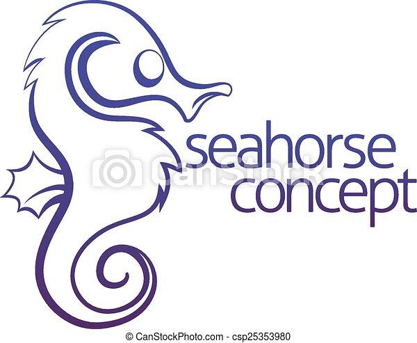 seahorse, fogalom - csp25353980