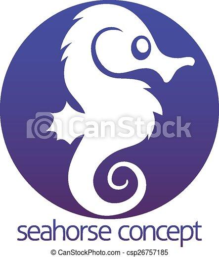 seahorse, karika, fogalom - csp26757185