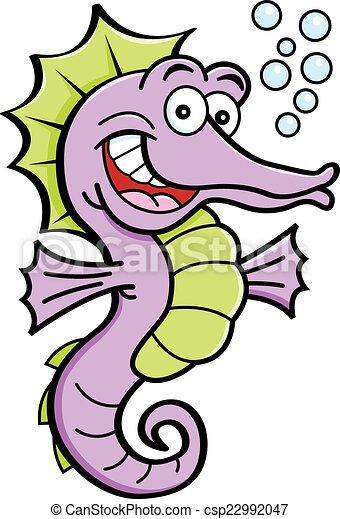 seahorse, rysunek - csp22992047