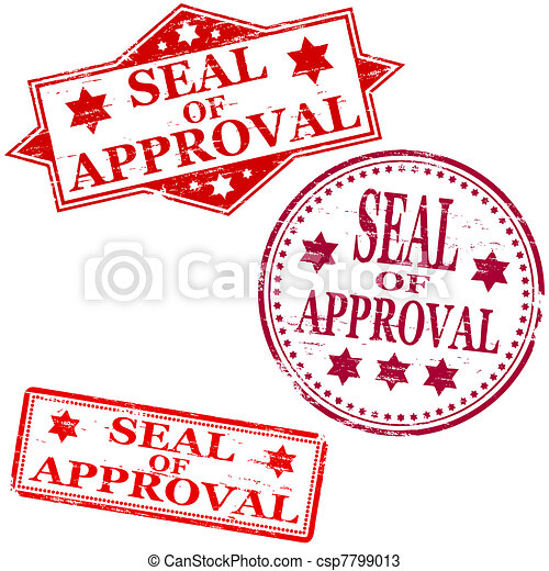 seal of approval stamp seal of approval rubber stamp vectors