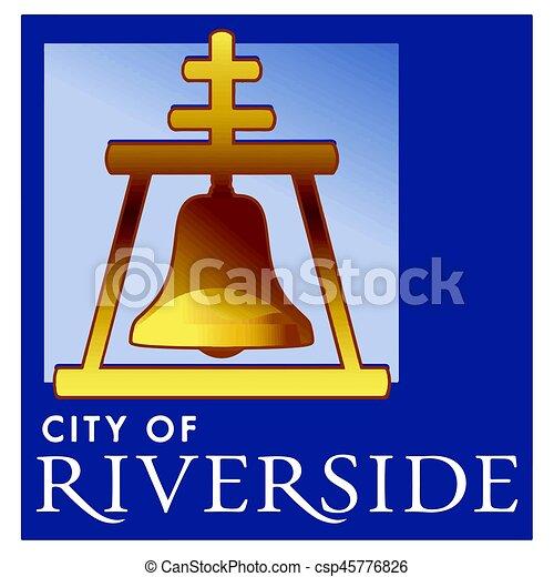 seal of riverside california usa vector format vector rh canstockphoto com  riverside bell logo wallpaper