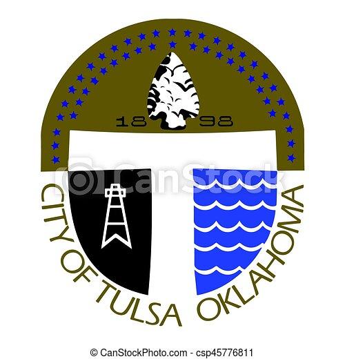 seal of tulsa oklahoma usa vector format vector clip art rh canstockphoto com sell vector images seal victoria secret