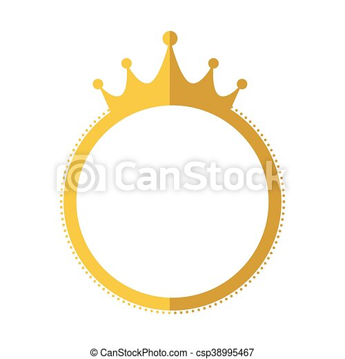 Seal Stamp Crown Gold Label Banner Icon Vector Graphic