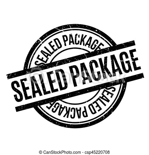 Sealed Package rubber stamp - csp45220708