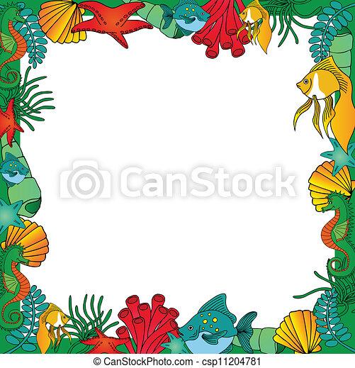 Sealife frame green - csp11204781