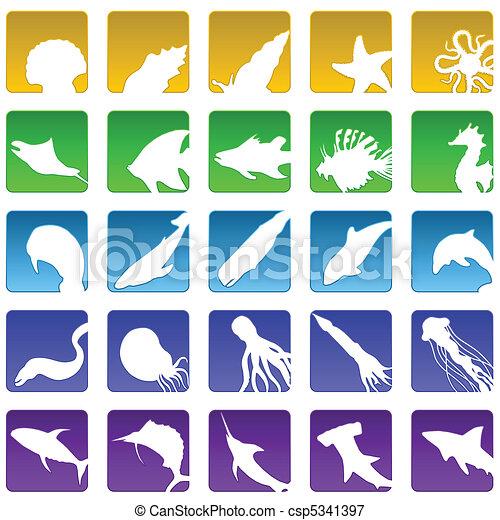 sealife icons - csp5341397