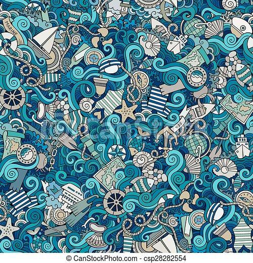 sealife, motívum, tengeri, seamless - csp28282554