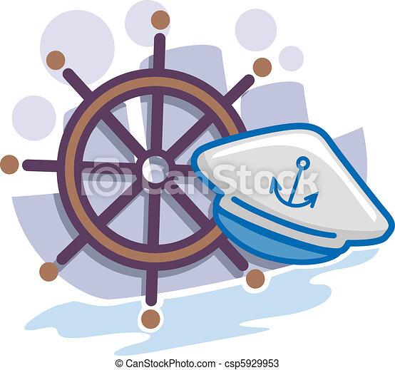 Seaman icon. Illustration of icons representing seamen.