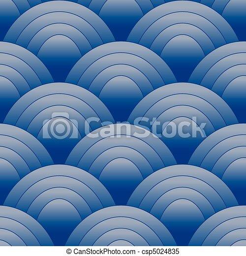 Seamles Oval Pattern Blue - csp5024835