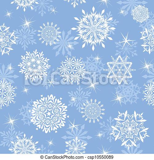 seamless, 背景, 雪片 - csp10550089