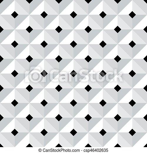 Vector. Seamless 3d Geometric Pattern.   Csp46402635