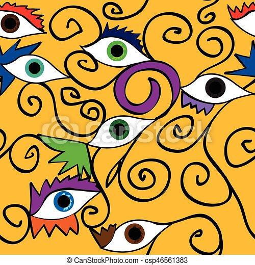 Seamless abstract eye pattern; - csp46561383