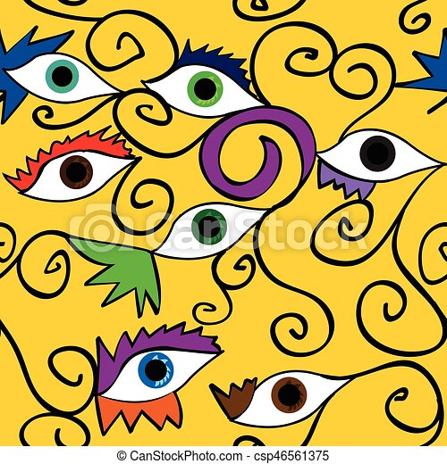 Seamless abstract eye pattern; - csp46561375