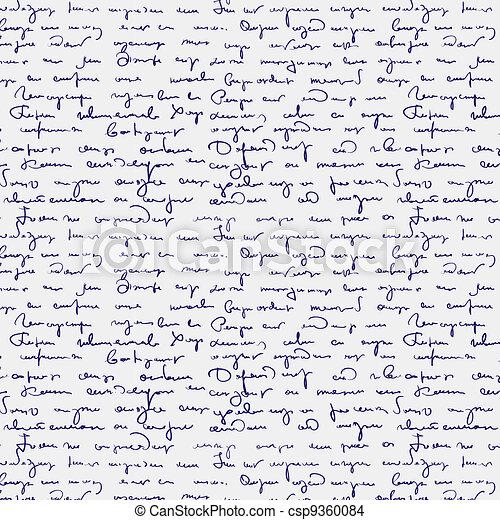Seamless abstract handwritten text  - csp9360084