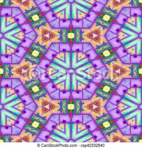Seamless Abstract Mosaic Tile - csp42332840