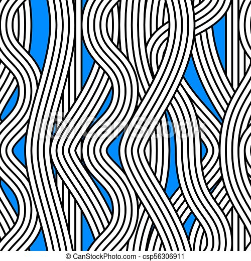 Seamless Abstract Noodle Wave Vector Pattern Seamless Abstract Awesome Wavy Pattern