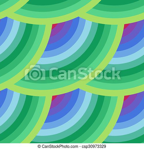 seamless abstract pattern of elements in all colors of the rainbow