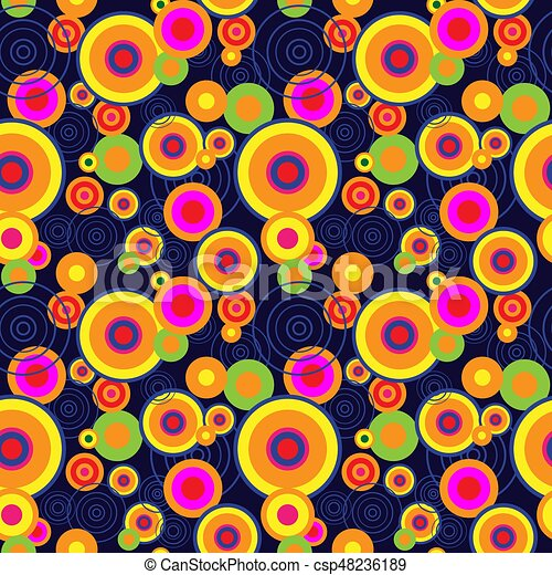 Seamless abstract pattern with different concentric circles - csp48236189