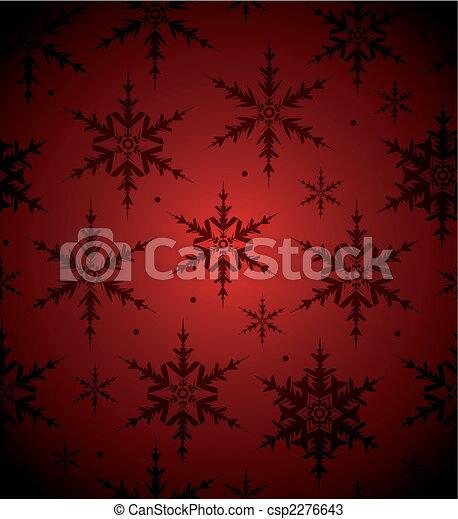seamless, achtergrond, sneeuwvlok - csp2276643