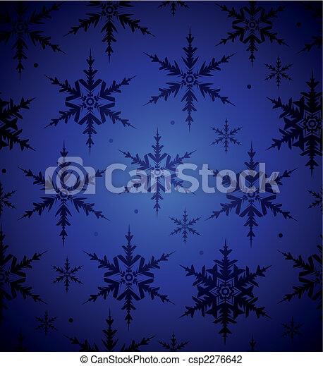 seamless, achtergrond, sneeuwvlok - csp2276642