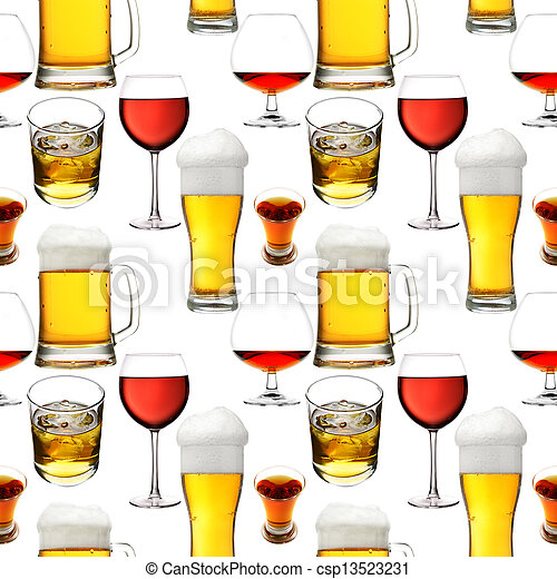 Seamless alcohol beverages - csp13523231