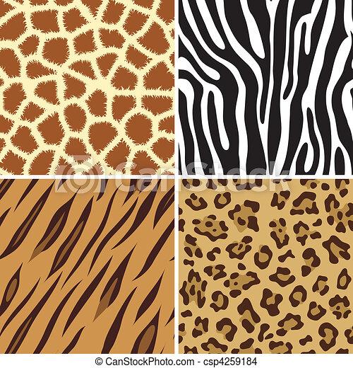 seamless animal print four seamless tiling animal print eps rh canstockphoto com animal footprint clipart animal print clipart