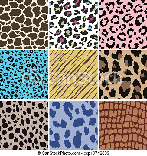 seamless animal skin pattern - csp10742833