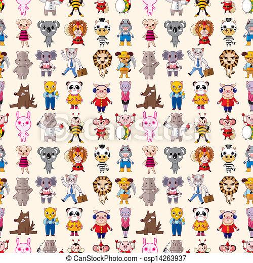 seamless animals pattern - csp14263937