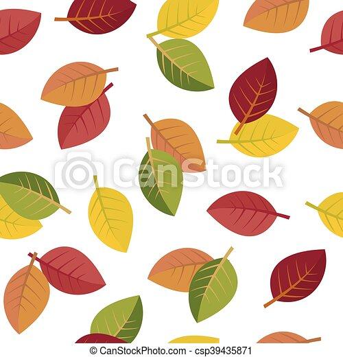 Seamless autumn leaves - csp39435871