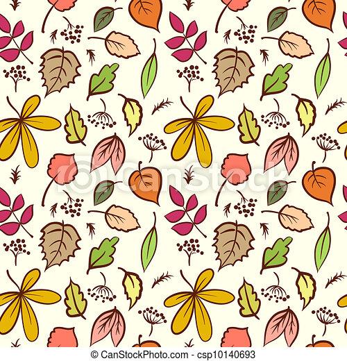 Seamless Autumn Leaves Texture - csp10140693