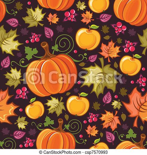 Seamless autumnal background 2 - csp7570993