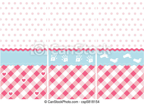 Seamless Baby Girl Pattern