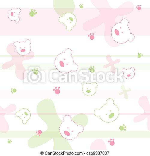 Seamless baby pattern - csp9337007