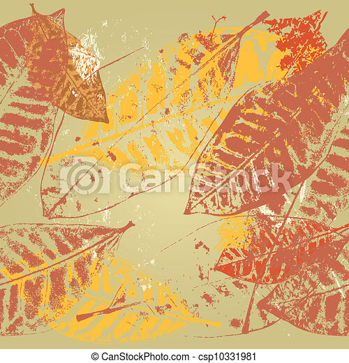 seamless background autumn leaves - csp10331981