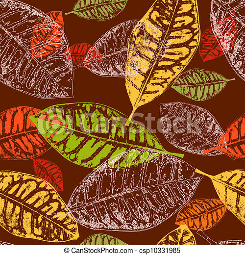 seamless background autumn leaves - csp10331985
