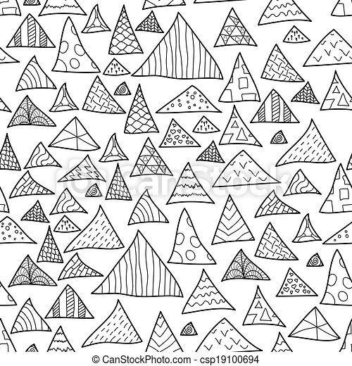 Seamless Background Black And White Hipster Pattern