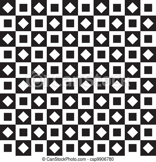 Seamless background chess table style squares on squares - csp9906780